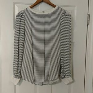 Beautiful black and white striped blouse